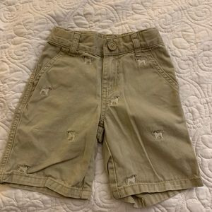 Gymboree Boys Dog Khaki Shorts Size 3 GUC